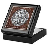 Flowers in Stone Keepsake Box