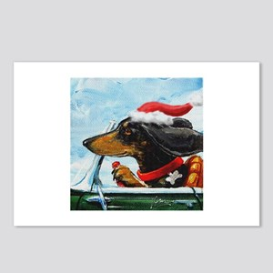 Holiday Dachshund Postcards (Package of 8)