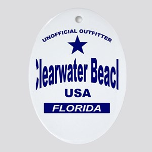 Clearwater Beach Oval Ornament