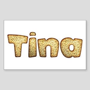 Tina Toasted Rectangle Sticker