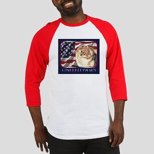 Pomeranian United US Flag Baseball Jersey