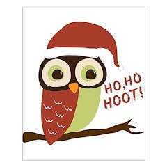 Santa Owl Christmas Posters