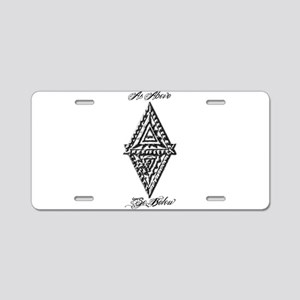 As Above So Below Fludd Aluminum License Plate