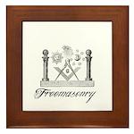 Freemasonry Symbolism Framed Tile
