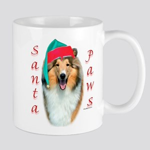 Santa Paws Rough Collie Mug