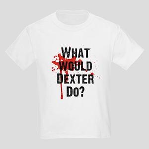 What would Dexter Do Blood Splatter Kids Light T-S