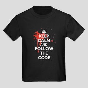 Keep Calm and Follow Harrys Code Kids Dark T-Shirt
