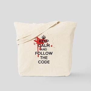 Keep Calm and Follow Harrys Code Tote Bag