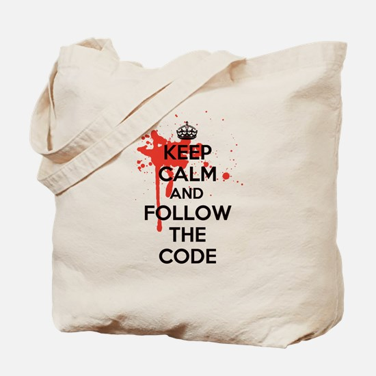 Keep Calm and Follow Harrys Code Tote Bag
