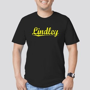 Lindley, Yellow Men's Fitted T-Shirt (dark)