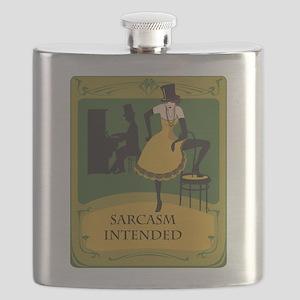 Art Nouveau Wisecrack Flask