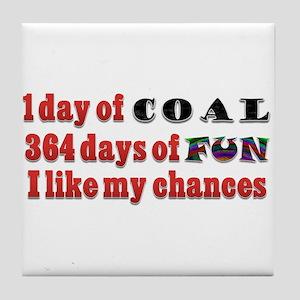 Christmas 1 Day of Coal 364 Days of Fun Tile Coast