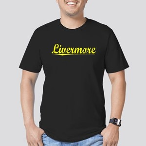 Livermore, Yellow Men's Fitted T-Shirt (dark)