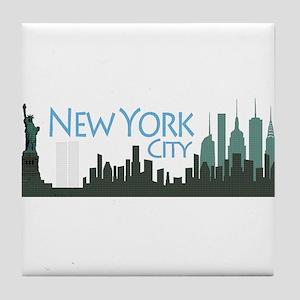 New York City Skyline Tile Coaster