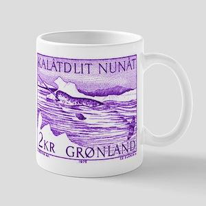 1975 Greenland Narwhal Whale Postage Stamp Mug