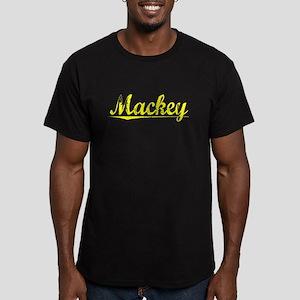 Mackey, Yellow Men's Fitted T-Shirt (dark)