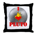 I Love Pluto! Throw Pillow