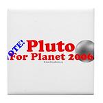 Vote - Pluto For Planet 2006 Tile Coaster