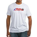 Vote - Pluto For Planet 2006 Fitted T-Shirt