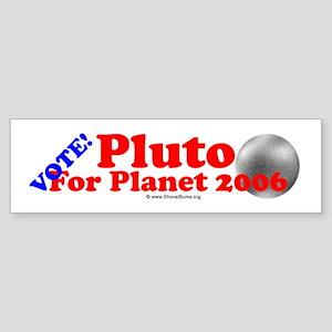 Vote Pluto For Planet - Bumper Sticker