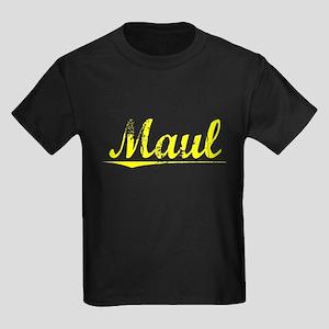 Maul, Yellow Kids Dark T-Shirt