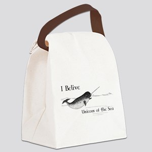I Believe - Unicorn of the Sea Canvas Lunch Bag