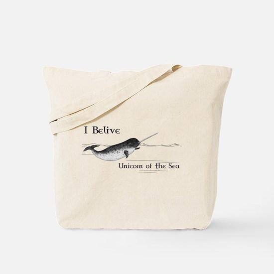 I Believe - Unicorn of the Sea Tote Bag