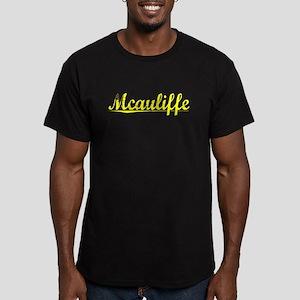 Mcauliffe, Yellow Men's Fitted T-Shirt (dark)