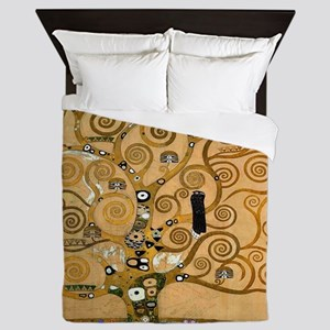 The Tree of Life by Klimt Queen Duvet