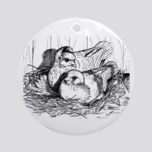 Baby Pigeons Ornament (Round)