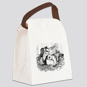 Baby Pigeons Canvas Lunch Bag