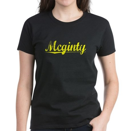 Mcginty, Yellow Women's Dark T-Shirt