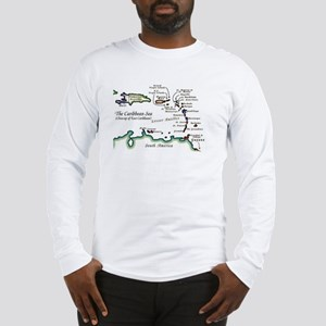 Caribbean Map Long Sleeve T-Shirt