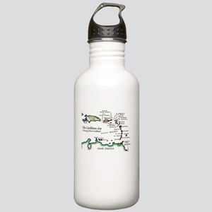 Caribbean Map Stainless Water Bottle 1.0L