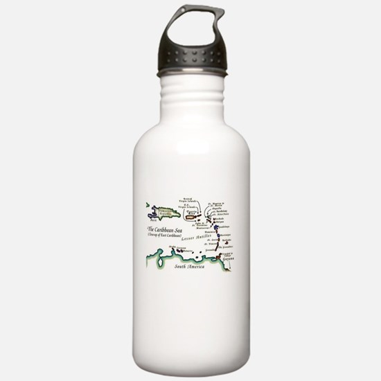 Caribbean Map Water Bottle