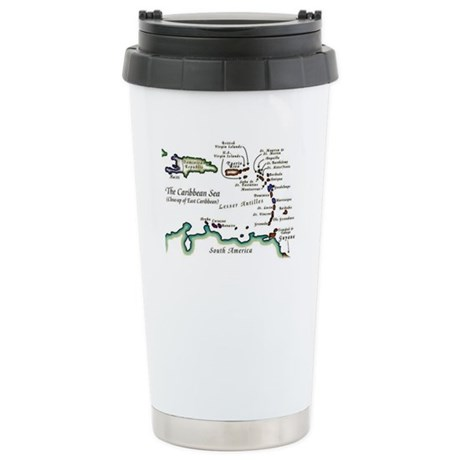 Caribbean Map Stainless Steel Travel Mug