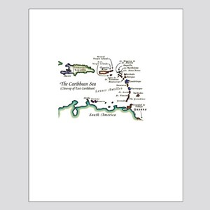 Caribbean Map Small Poster