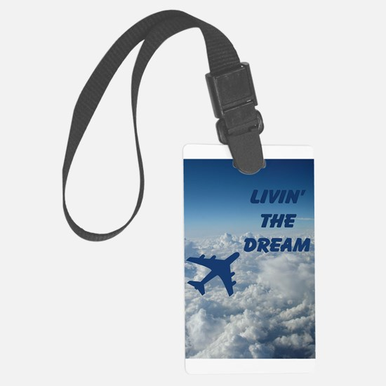 Livin' the Dream Large Luggage Tag