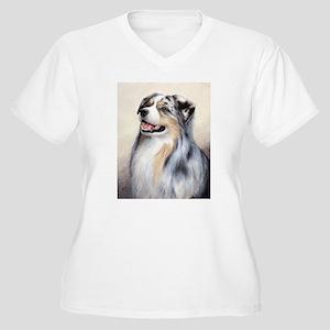 aussie_ollie Women's Plus Size V-Neck T-Shirt