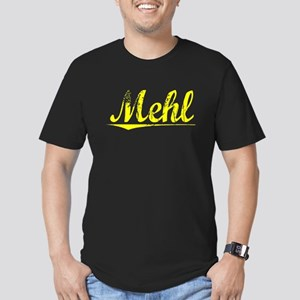 Mehl, Yellow Men's Fitted T-Shirt (dark)
