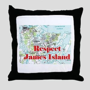 Respect James Island Throw Pillow