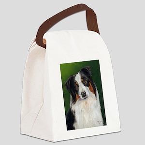 Australian Shepherd Tri Canvas Lunch Bag