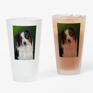 Australian Shepherd Tri Drinking Glass