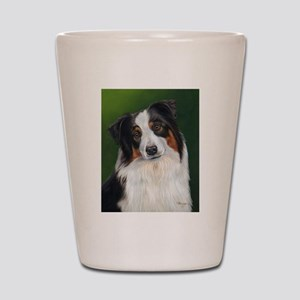 Australian Shepherd Tri Shot Glass