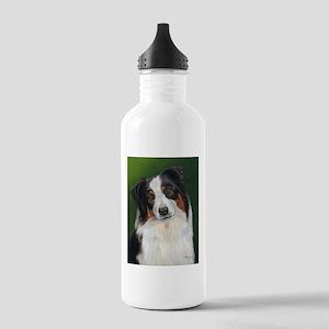 Australian Shepherd Tri Stainless Water Bottle 1.0