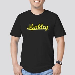 Merkley, Yellow Men's Fitted T-Shirt (dark)