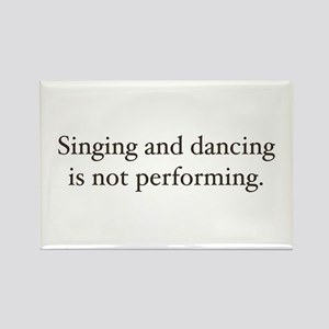 Sing and dancing Rectangle Magnet