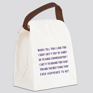 THE BEST THING... Canvas Lunch Bag