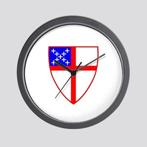 Episcopal Shield Wall Clock