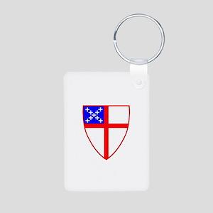 Episcopal Shield Aluminum Photo Keychain